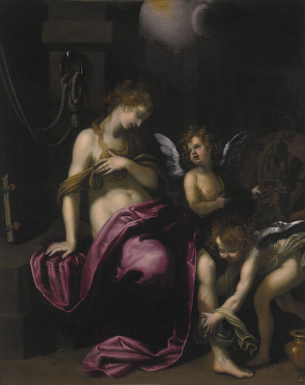 Giovanni Bilivert, 'Saint Catherine of Alexandria with two angels'