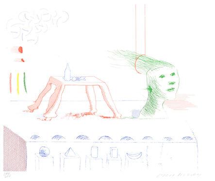 David Hockney, 'A Moving Still Life, from The Blue Guitar', 1976-1977