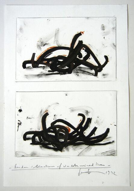 Bernar Venet, 'Random combination of undetermined lines', 1992