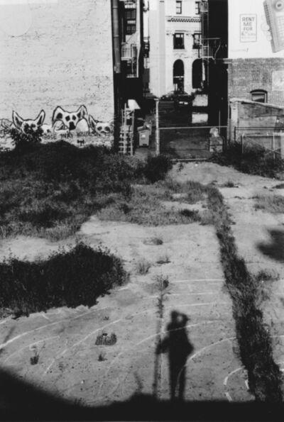 Arabella Colton, 'Wall Dogs — My Shadow,Jackson & Kearny Sts, (I Hotel site),  San Francisco 1992', ca. 1992