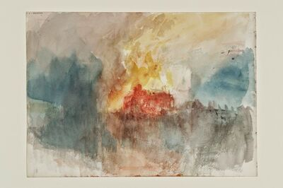 J. M. W. Turner, 'Fire at the Tower of London Sketchbook [Finberg CCLXXXIII], A Fire at the Tower of London', 1841