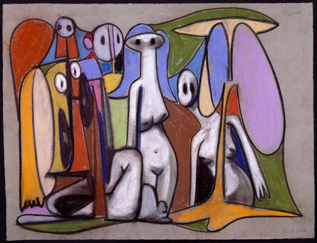George Condo, 'Naked Ghosts', 2000