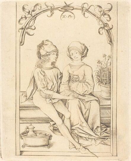 Israhel van Meckenem after Wenzel von Olmutz after Master of the Housebook, 'The Lovers', ca. 1490