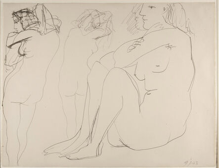 Pablo Picasso, 'Trois femmes nues', 1943