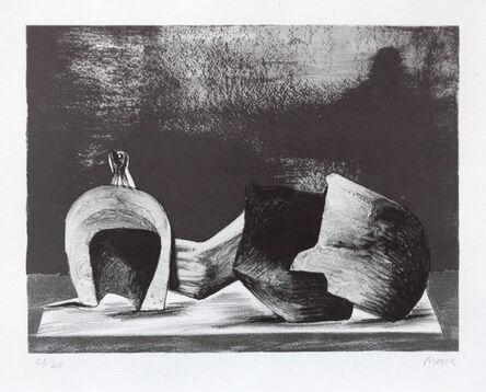 Henry Moore, 'Reclining Figure Interior Setting II', 1977