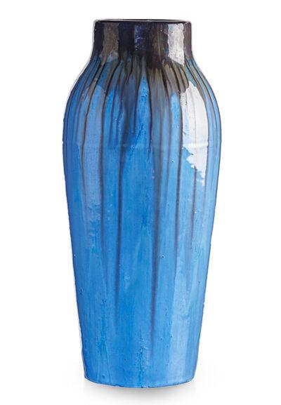 Fulper Pottery, 'Large vase, brown and Chinese Blue flambé glaze, Flemington, NJ', 1910s