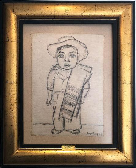 Diego Rivera, 'Niño con Zarape', 1949