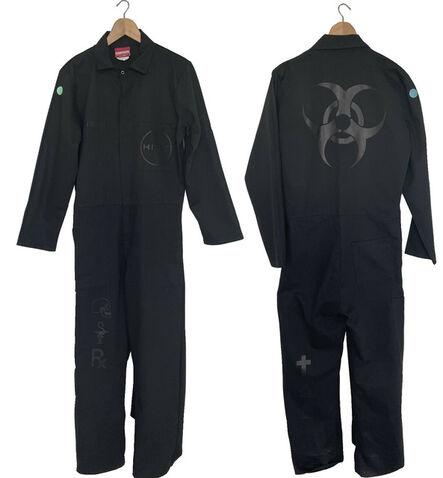 "Damien Hirst, '""Science- Green Dot Boiler Suit"", 2018, Studio Assistant's Black Boiler Suit from Damien Hirst Studio Science UK', 2018"