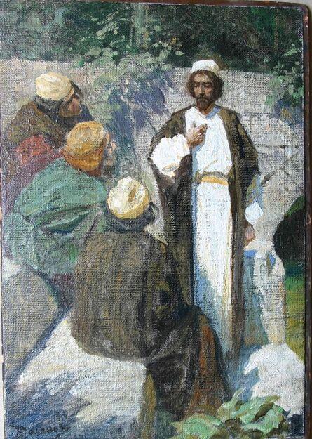 Vassily Dmitrievich Polenov, 'Who do people worship Me for? Sketch', 1904