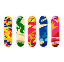 Andy Warhol, 'Camouflage (set of 5 skateboard decks)', 2007