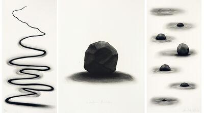 David Nash, 'Wooden boulder triptych', 2016