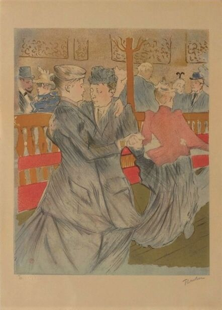 Henri de Toulouse-Lautrec, 'La danse au Moulin Rouge', 1985