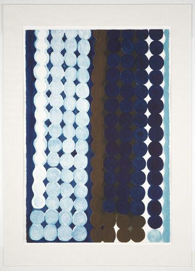 Judy Ledgerwood, 'Malibu (#7 Blue + Brown)', 1997