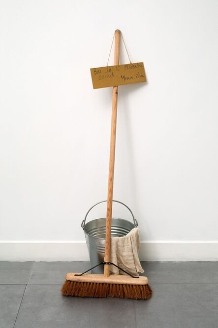 Robert Filliou, 'La Joconde est dans les escaliers. / Bin in zehn Minuten Zuruck. Mona Lisa', 1969