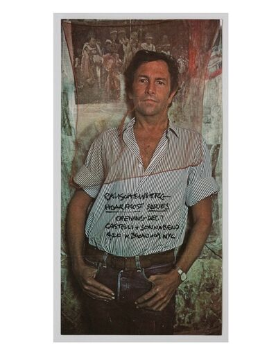 "Robert Rauschenberg, '""Hoar Frost Series"", 1974, Exhibition Announcement/Mailer/Poster, Leo Castelli and Sonnabend Galleries ', 1974"
