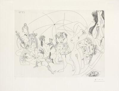 Pablo Picasso, 'Plaisanterie autour du bain turc, jeux, musique et gateaux, from 'Series 156' (Bloch 1974; Baer 1983.B.a.)', 1971