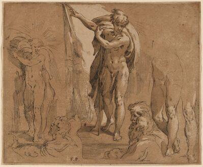 Frederick Bloemaert after Parmigianino, 'Saint John the Baptist'