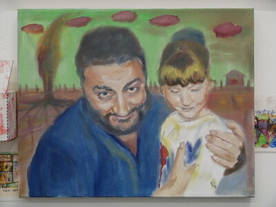 Izabella Volovnik, 'Papa and The Young Gymnast I Was', 2017