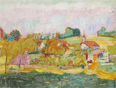 Cuno Amiet, 'Herbst auf der Oschwand', 1922