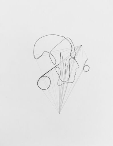 Mark Manders, 'Drawing with Two Vanishing Points/ Drawing with Rain', 2020