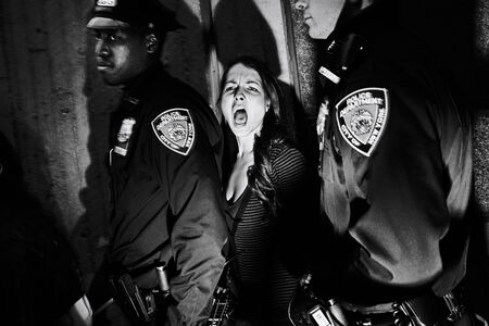 Tomasz Lazar, 'Arrest of protesters in Harlem, NY', 2009-2012