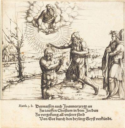 Augustin Hirschvogel, 'The Baptism of Christ', 1547