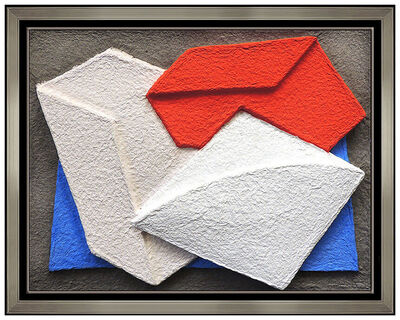 Charles Hinman, 'Charles Hinman Original Wall Relief Sculpture Hand Signed Modern Abstract Art', 1980