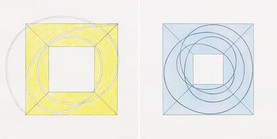 Robert Mangold (b.1937), 'Framed Square with Open Center A and Framed Square with Open Center B', 2013