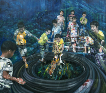 Li Tianbing, 'Catch The Mice Underwater', 2017