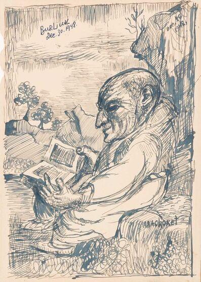David Burliuk, 'Untitled Self-Portrait', 1948