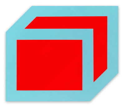 Brent Hallard, 'Gong (Red, Blue) (Abstract painting)', 2016