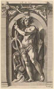 Hendrik Goltzius after Polidoro da Caravaggio, 'Sol or Apollo', probably 1592
