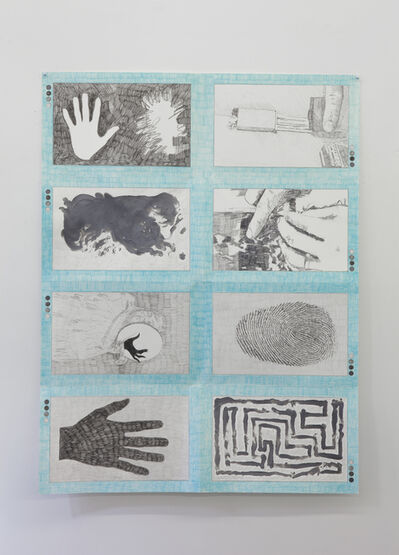 Derek Sullivan, '#126, A book about hands and their traces', 2017