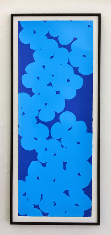 Donald Sultan, 'Light blue on dark blue', 2018