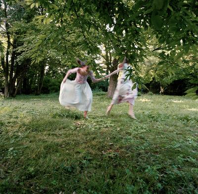 Neil Folberg, ' Young girls running in Berthe Morisot's yard, Mesnil', 2003