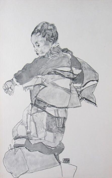 Egon Schiele, 'Portrait of a Child [Zeichnungen]', 1917