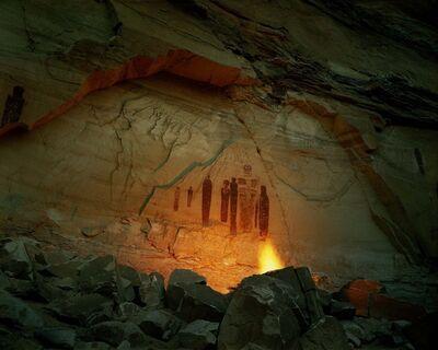 Steve Fitch, 'Shaman-like Figures in Horseshoe Canyon, Utah, June 1', 1983
