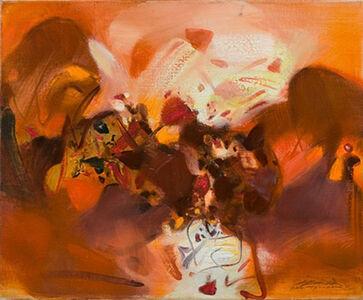 Chu Teh-Chun, 'Ton orangé', 1991