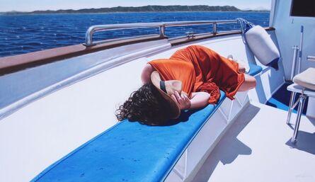 Gustavo Fernandes (b. 1964), 'Woman In a Boat'