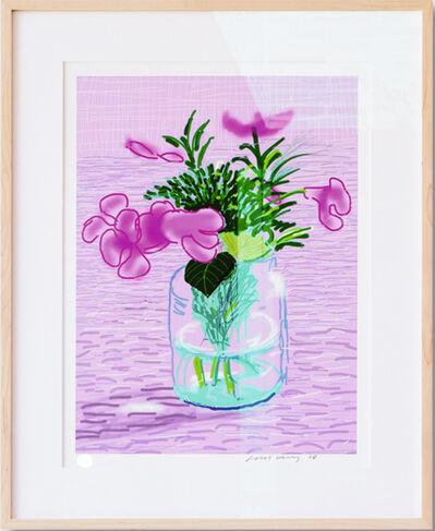 David Hockney, 'A Bigger Book with Untitled 329 [Lilacs] ', 2016