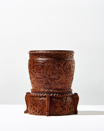 Lars Kinsarvik, 'Carved Wooden Vase', ca. 1900