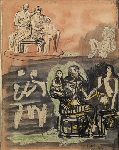 Henry Moore, 'Family Group', 1944