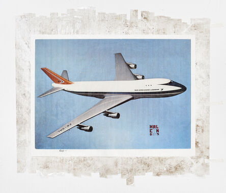 Mikhael Subotzky, 'Sticky-tape Transfer 18 - Halcyon Days (or a Boeing 747, pride of the South African Airways)', 2017