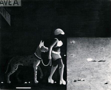 Anton van Dalen, 'Street Woman with Dog in Shadow', 1977
