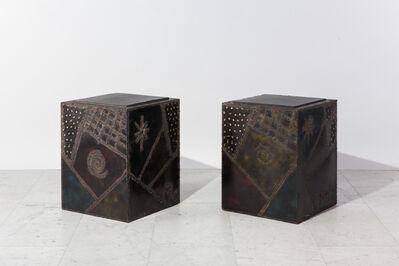 Paul Evans (1931-1987), 'Pair of Custom Welded Steel End Tables', 1969