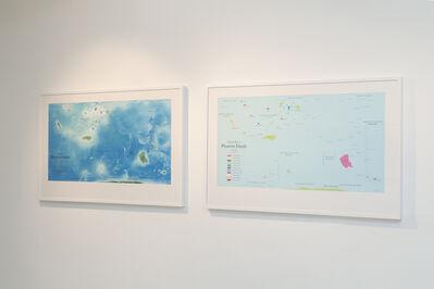 Agnieszka Kurant, 'Map of Phantom Islands & Political Map of Phantom Islands', 2011