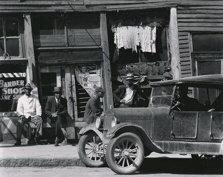 Walker Evans, 'Sidewalk in Vicksburg, Mississippi', 1936