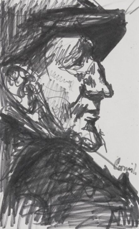 Norman Cornish, 'Man in profile', ca. 1960