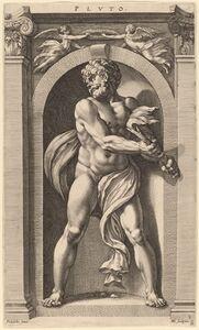 Hendrik Goltzius after Polidoro da Caravaggio, 'Pluto', probably 1592