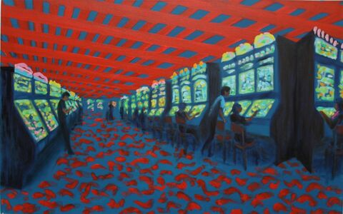 Jane Dickson, 'Red Roof', 2012